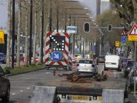 Start werkzaamheden kruising Singel- Stationsweg - Johan de Wittstraat Dordrecht