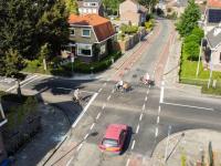 Aangepast kruispunt Nijhofflaan Rechte Zandweg Dronefoto Dordrecht