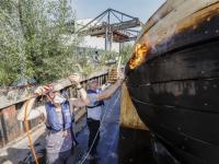 Schip \'rivier boot stad\' gaat volgende fase in: van schip naar sculptuur Dordrecht