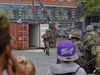 Militairen schieten op het Statenplein Dordrecht