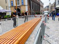 Zitbank Visbrug in aanbouw Dordrecht