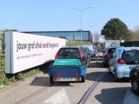 Lange rijen bij afvalbrengstation hvc Baanhoekweg Dordrecht
