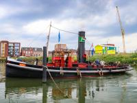 Stoomsleepboot De Hugo in Stadswerven Dordrecht