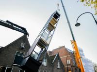 Liftschacht geplaatst Singel Dordrecht