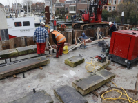 Werkzaamheden kade Lange Geldersekade Dordrecht