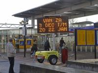 20163011 Matrixbord waarschuwt voor volle treinen Dordrecht Tstolk