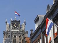 Vlaggen uit Koningsdag Dordrecht