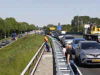 Kop-staartbotsing Randweg N3 Dordrecht