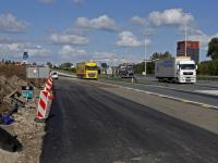 Nieuw stukje asfalt op A16 richting Breda