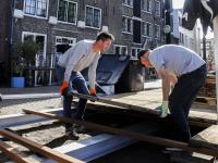 Nieuw terras voor Café Merz Korte Kalkhaven