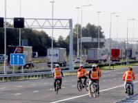 Nieuwe parallelbaan langs A16 in gebruik Dordrecht