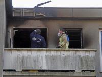 Politie en brandweer onderzoeken de oorzaak van de flatwoning aan de W.H. Vliegenstraat