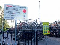 Opgelet Fietsendieven actief NS Station Dordrecht
