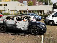 Auto's uitgebrand Krispijn Johan Willem Frisostraat Dordrecht