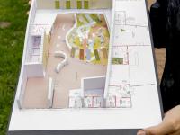 Maquette van het nieuwe Biesboschcentrum Dordrecht
