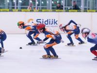 Nederland, Dordrecht, 15-03-2013 Sportboulevard IJsclub Alblasserwaard Shorttrack sport schaatsen foto:Ronald van den Heerik
