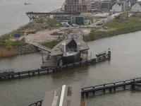 Prins Clausbrug begint aan oversteek Dordrecht