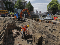 Opgraving middeleeuwse Sint Pontiaanstoren Dordrecht