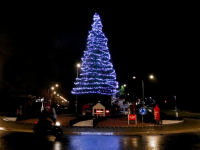 Rotonde in kerstsfeer