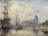 Jongkind - Le port de Dordrecht zl