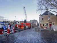 Pand only the brave verzakt door werkzaamheden aan kade's Dordrecht