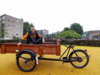 Roger erg blij met zijn bakfiets Dordrecht