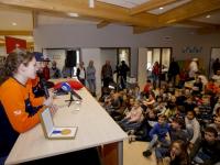 Selfie met Shorttrackers Beatrixschool Dordrecht