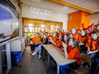 Shorttrack feestje op Beatrixschool Dordrecht