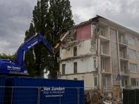 Laatste portiekflat bijna gesloopt MH Trompweg Dordrecht