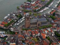 Luchtfoto Grote Kerk Dordrecht