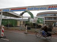 Sloop tankstation Van Gijnweg Dordrecht