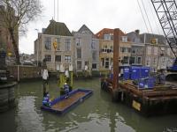 Werkzaamheden tijdelijke brug Nieuwe Haven Dordrecht