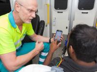 'Tolkenapp' voor ambulancepersoneel