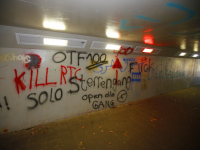 Tunnel Octant vol graffiti