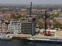 Overzichtsfoto bouw Euryza aan de Oude Maas Zwijndrecht