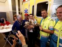 Knuffelberen voor ambulance ambulancepost Zwijndrecht
