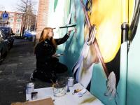 Kunstproject Vogelplein in volle gang Dordrecht