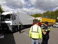 20170905 Vrachtwagens blokkeren Fly-over N3 Dordrecht Tstolk 002