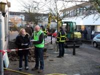 grote waterlekkage Marcellus Schampersstraat Dordrecht
