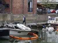 Plezierboten niks meer van over Wijnhaven Dordrecht