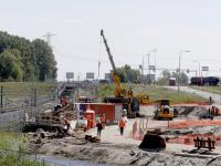 Werkzaamheden herinrichting A15 rondweg N3 in volle gang Papendecht