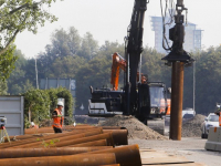 Nieuw geluidsscherm langs N3 bij Leerpark Dordrecht
