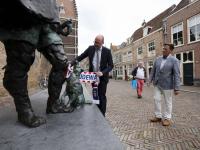 ludieke actie bij herdenking Vrije Statenvergadering Dordrecht