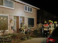 Man gewond na brand in kluswoning