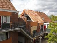 20173107 Overzichtsfoto van uitgebrande woning aan de Stellingmolen in papendrecht Tstolk