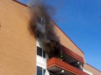 Woningen ontruimd na grote brand in appartementencomplex
