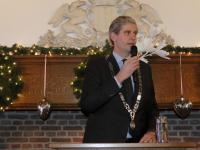 Wouter Kolff tijdens de nieuwjaarsreceptie Dordrecht